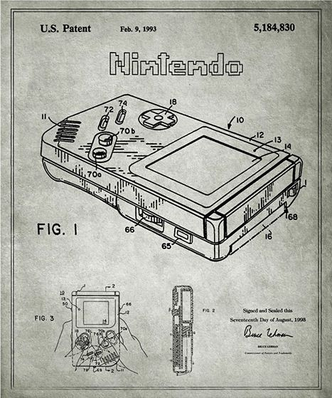 32 best graphics images on pinterest video game video games and turns patent application blueprints for everyday objects into framable wall art malvernweather Image collections