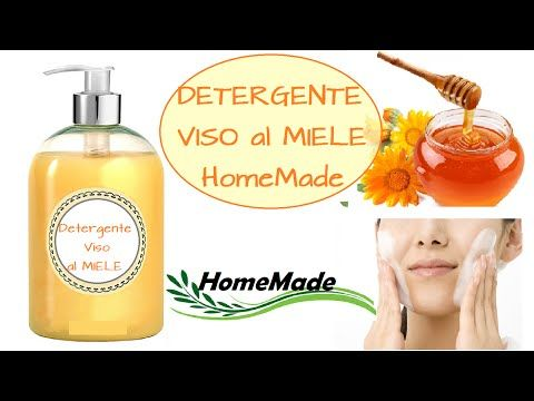 Detergente Viso al MIELE - Homemade HONEY Face Wash - YouTube