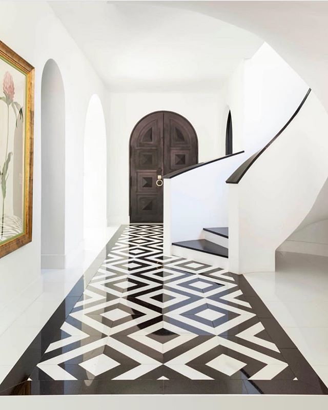Marble Floor Pattern Black White Floor Design Marble Floor Pattern Floor Tile Design