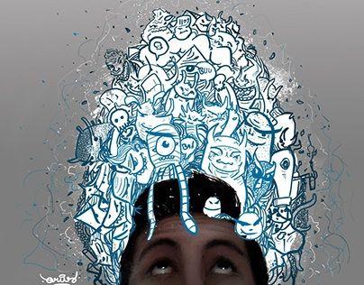 "Check out new work on my @Behance portfolio: ""monstruos en mi cabeza"" http://on.be.net/1KO83sg"