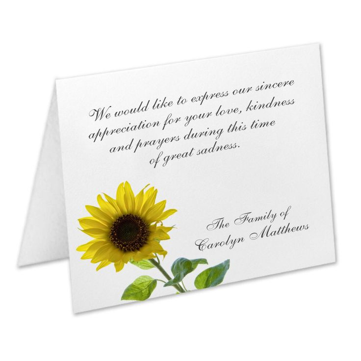 We have expanded our selection of sympathy acknowledgment cards. We know it's an emotional time but let us take care of this part for you with our funeral thank you cards.