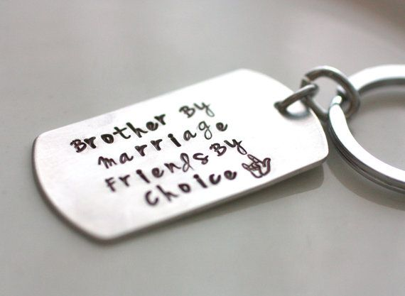 Items Similar To Step Brother Gift In Law Key Chain By Marriage Friend Choice Quote Chaindog Tag And Heart On
