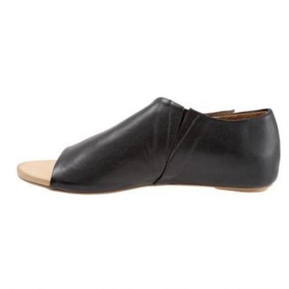 closed toe open back flat shoes