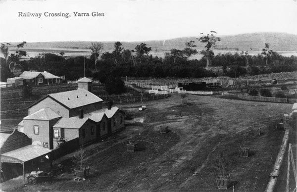 Looking South across Yarra Glen in 1893