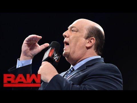 Paul Heyman reveals that Brock Lesnar is ready for Goldberg: Raw, Oct. 10, 2016 - YouTube