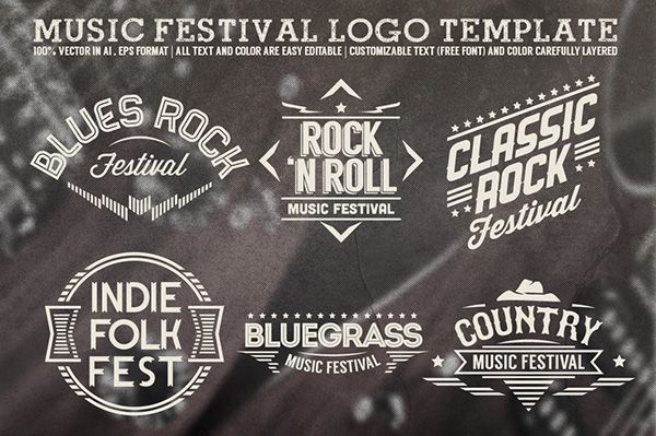 Music Festival Logo Template on Behance