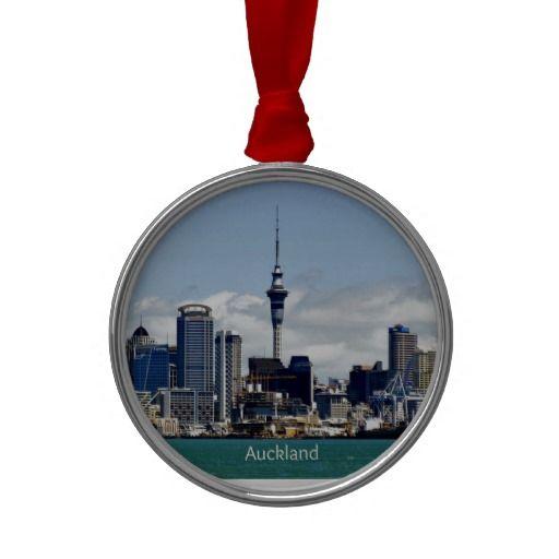 Auckland Skyline Christmas Tree Ornament