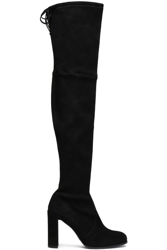 a68c86579bd Suede over-the-knee boots