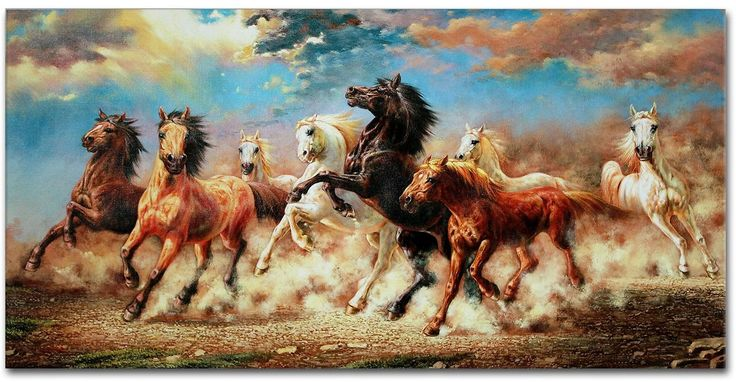 IARTS Running Horse Modern Wall Art for Decor Home and Office 40x80cm…