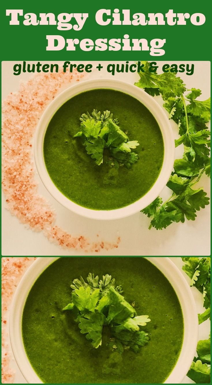 Tangy Cilantro Dressing on Elle's Gourmet Life | This dressing is light and will liven up any salad or cold pasta dish