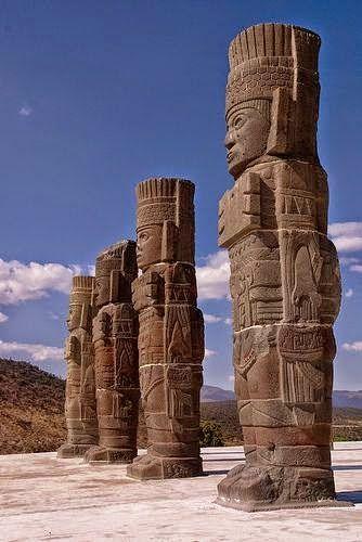 Columnas guerrero tolteca Ciudad Antigua De #Tula #Hidalgo , #Mexico Maravillas Del Mundo