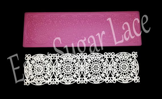 Silicone MEDALLION CAKE LACE Mat / Mold for Edible Sugar Lace (1 Row, Small) - Free Shipping