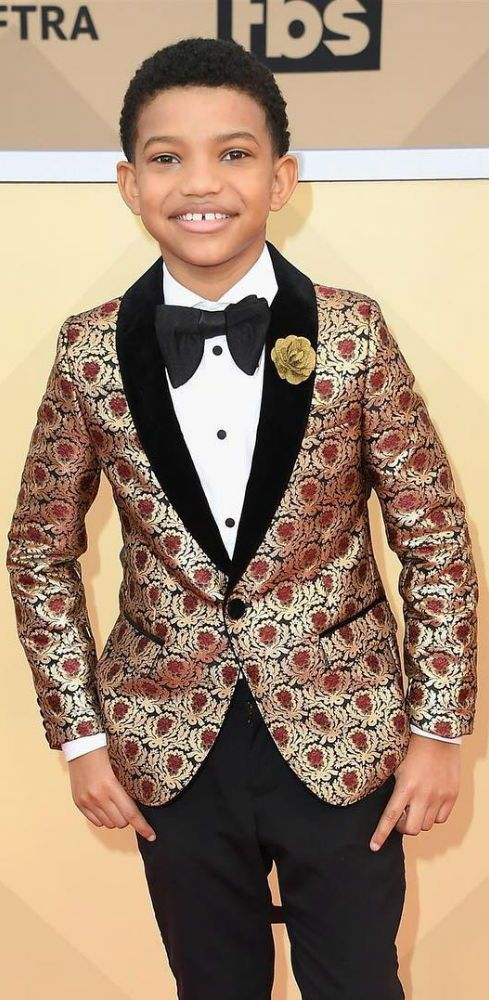 044d0bb89 Lonnie Chavis - DOLCE   GABBANA Junior Boys Gold Jacquard Jacket ...
