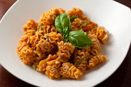 Radiatori with Tomato-Cream Sauce and Fresh Basil More