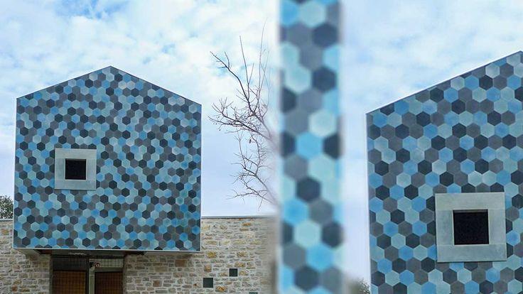 šesťuholníková cementová dlažba