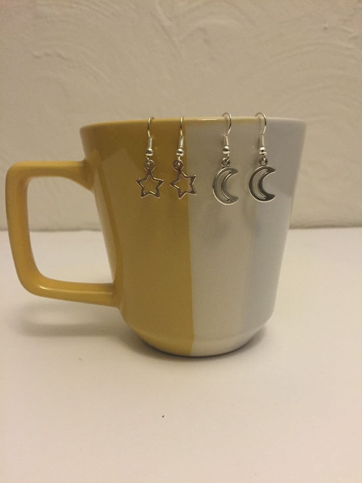 A personal favorite from my Etsy shop https://www.etsy.com/listing/261792889/moon-and-star-earrings