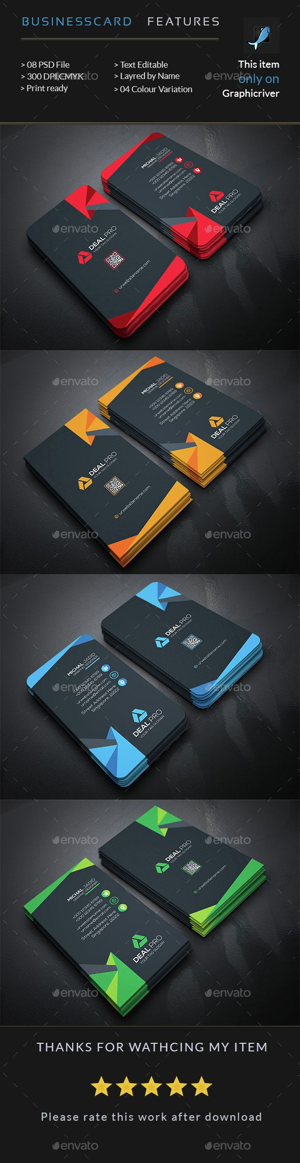 Unique Business Card Template PSD. Download here: http://graphicriver.net/item/business-card/15120003?ref=ksioks