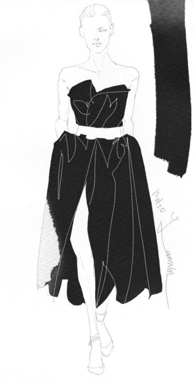 Today's Drawing 150212. The sample photo via internet. Lanvin 2014/FW/Pre
