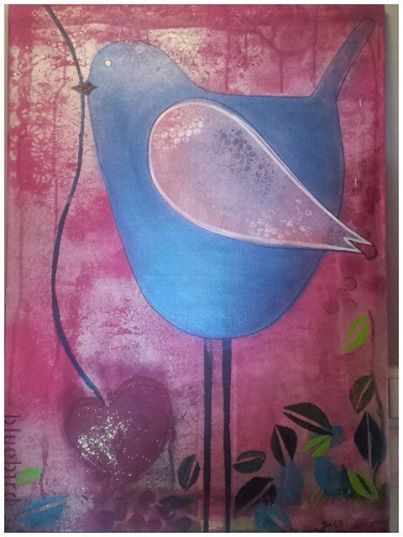 Bluebird -acryl/canvas 50x70.