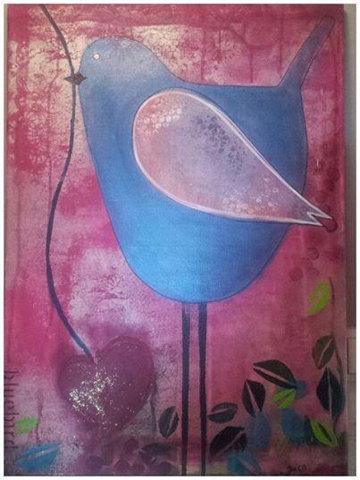 Bluebird -acryl/canvas 50x70.