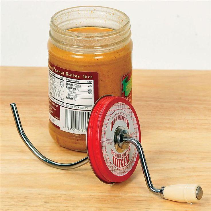 Best way to stir natural peanut butter