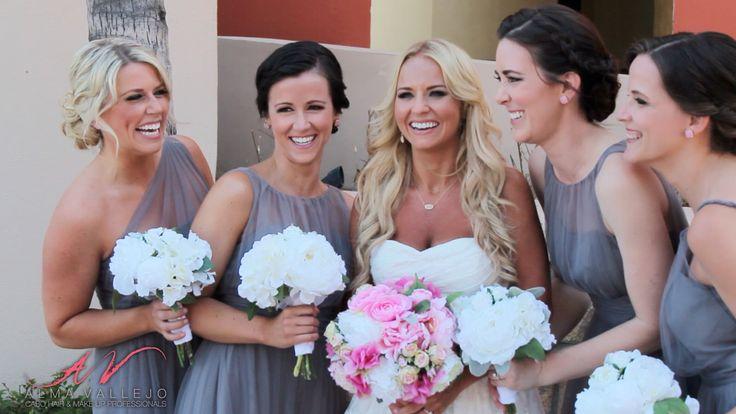 Bride Morgan and her Bridesmaids at Welk Sirena del Mar