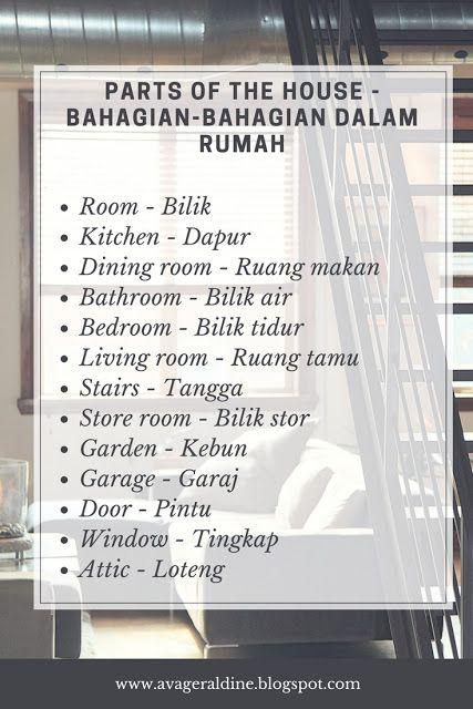 #malay #bahasa #melayu #malaysia #house #rumah #language