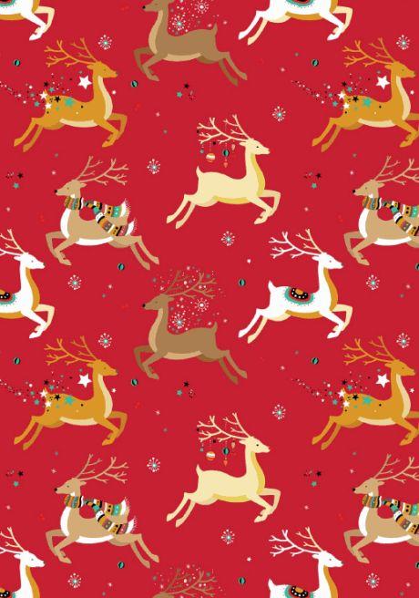 Christmas scrapbook paper - reindeer design