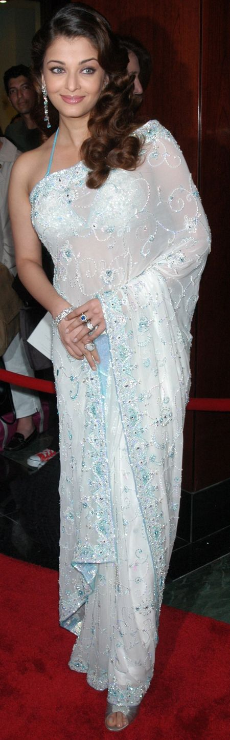 Aishwarya in white Saree
