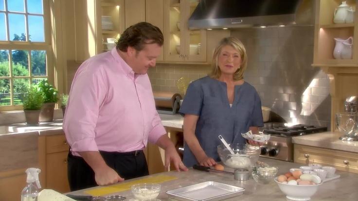 Martha and Michael White prepare the robiola cheese filling for the ravioli.