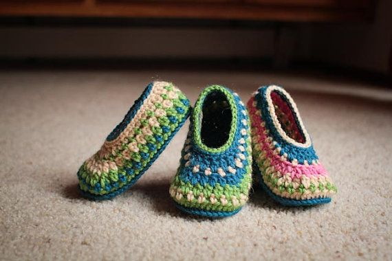 Crochet Slipper Pattern Galilee Slippers Child by Mamachee