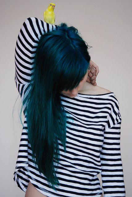Blue/green hair