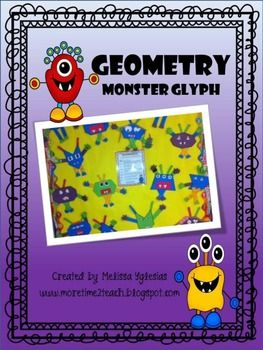 Here's a monster glyph activity that helps review geometric terms.