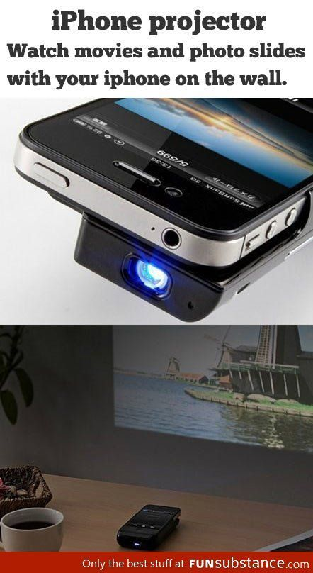 iPhone projector. This would be amazing!! also check this amazing : Space Dump…