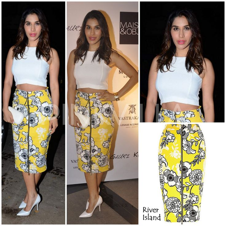 Sophie Choudry in River Island.