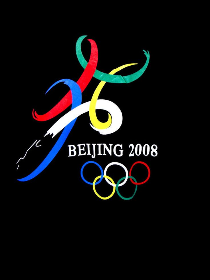 Black 2008 Beijing Olympic Tee Shirt Sz XL Olympic Rings Logo 100% Cotton SS #Unknown #GraphicTee #beijing #olympics #history #china #gold #silver #bronze #athlete