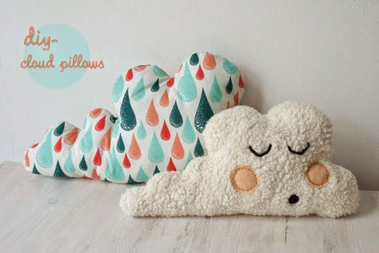 Cloud cushions DIY #cloud #babystuff #cushions
