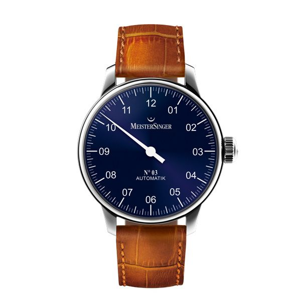MeisterSinger Sapphire-Blue Hours MeisterSinger presents its No03 and Pangaea models in a new dial color (See more at watchmobile7.com/...) #watches #meistersinger # WebMatrix 1.0