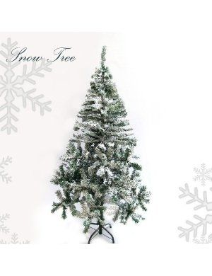 ginni bloom fake christmas tree with snow 5 feet tall best iu0027 - Fake Christmas Trees