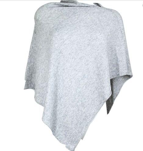 Poncho ensfarget lys grå fra Blush. Om denne nettbutikken: http://nettbutikknytt.no/blush-no/