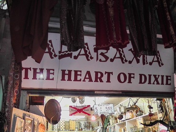 Of all places to see a mention of Alabama - the Crimson Tide - in the Old City of Jerusalem!