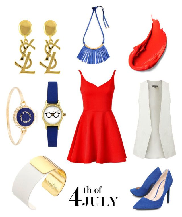 """Glam it up this 4th of July! White, Red & Blue!"" by jeanelalvarado on Polyvore"
