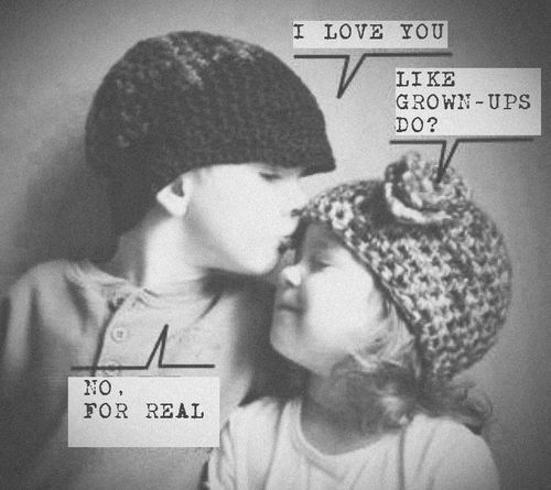 I love you for real. (this one made my day). So sweet...