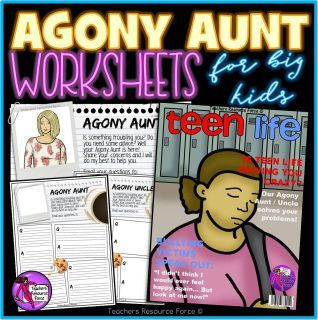 These worksheets are a fun Agony Aunt / Uncle style that allows your students to demonstrate what they have learnt in a fun and relatable way! They also provide you with great feedback to assess student understanding.