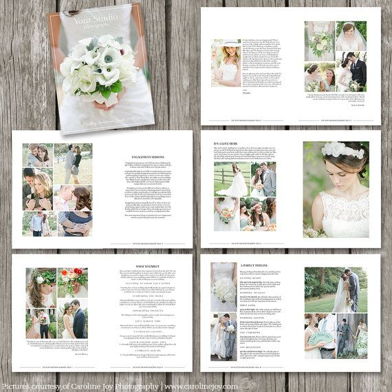 Wedding Photography Magazine Template - 22 Page Digital Magazine - Studio Welcome Guide - Wedding Brochure for Photographers