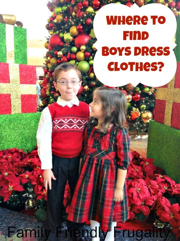 Where to Find Boys Dress Clothes?