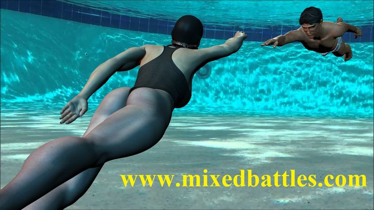 New underwater CFNM femdom mixed wrestling gallery added to http://www.mixedbattles.com - 200 Full HD pictures!