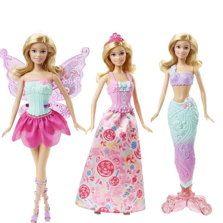 Original Barbie Doll Toy Barbie Fairytale Mermaid Dress Up Birthday Toys Gift Set DHC39
