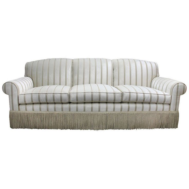 Elegant, Very Comfortable Sofa in a Luxurious Striped Velvet   From a unique collection of antique and modern sofas at https://www.1stdibs.com/furniture/seating/sofas/