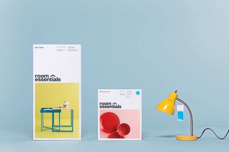 Logotype, photography and packaging by Collins for Target's modernistic home furnishings range Room Essentials